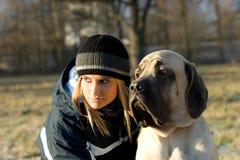 Gil mit Hund Stockfotografie
