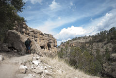 Gila Cliff Dwellings Stock Photography