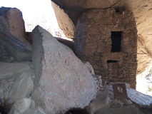 Gila Cliff Dwellings. The Gila Cliff Dwellings were built over 700 years ago by ancestors of the Puebloan Indians in southern New Mexico (near Silver City Royalty Free Stock Photos