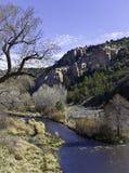 Gila River dichtbij Zilveren Stad, Arizona Stock Fotografie