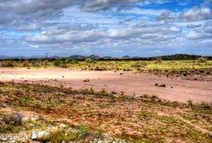 Gila River. Dry Gila river bed Sonora desert in central Arizona USA Stock Photo