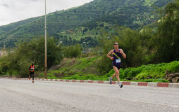 Gilad Rotem Marathon Runner. Gilad Rotem Iron-man running in Tiberius 2013 marathon Stock Photography