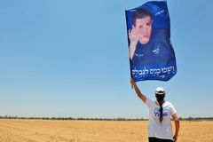 Gilad Shalit Protest Royalty Free Stock Images