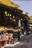Gilan landskapRasht Iran-mars 19, 2016 - daglig Friut basar a Arkivbild
