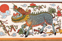 Gilan-Wandgemälde von Bhuttasothorn-Tempel Stockfoto
