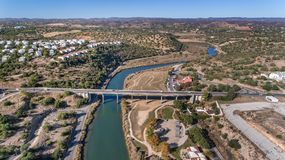 Gilao River and bridges in the city of Tavira. Royalty Free Stock Photography