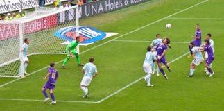 Gilardino Fiorentina Lazio serie A, Florence Italië Stock Foto's