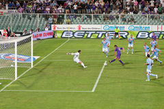 Gilardino trying to score a goal Stock Photo
