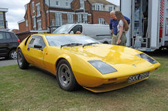 Gilbern sportscar. Photo of a powerful welsh manufactured gilbern sportscar on display at whitstable car show 16th july 2017 Royalty Free Stock Photos