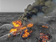 Gilbert Arizona apartment fire. Massive accident fire Stock Image
