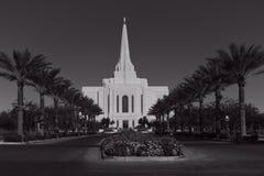 Gilbert Arizona Temple In Gilbert mormonico Arizona immagini stock libere da diritti