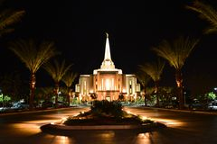 Gilbert Arizona temple Stock Images