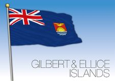 Gilbert and Ellice islands flag Royalty Free Stock Photography