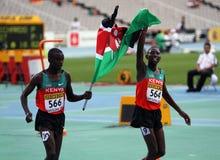 Gilbert Kiplangat Kirui et Conseslus Kipruto Images libres de droits