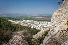 Gilboa slinga bredvid kibbutzer Hephzibah Royaltyfri Bild