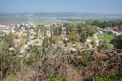 Gilboa-Spur nahe bei Kibbuzim Hephzibah Stockfotos