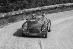 GILCO FIAT 1100 SPORT 1950. PESARO COLLE SAN BARTOLO , ITALY - MAY 17 - 2018 : old racing car in rally Mille Miglia 2018 the famous italian historical race 1927 royalty free stock images