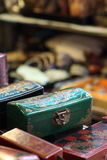 Gild box. Brocade/gild box was only use in imperial palace for long time ago, nowaday you can find in an antique shop stock photo