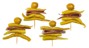 Gilda,典型的西班牙pincho 库存照片