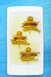 Gilda, typische Spaanse pincho Royalty-vrije Stock Afbeelding