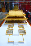 Gilded ancient architectural model Royalty Free Stock Photos