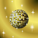 Gilded  ball on a beige background. Illustration Royalty Free Stock Photography