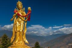 Gilded Bodhisattva statue in Thimphu royalty free stock photos