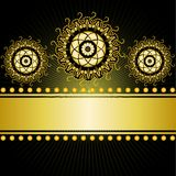 gilded border on a black background Royalty Free Stock Photography