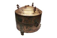 Gilded bronze zun(wine vessel) Stock Photo