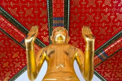 Gilded Buddha statue Stock Images