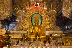 Gilded Buddhist temple Royalty Free Stock Photos