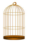 Gilded cage illustration over white. Gold color gilded cage metaphor Royalty Free Stock Image