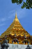 Gilded Chedi, Wat Phra Kaew, Thailand Royalty Free Stock Photography