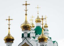 Gilded dome of the Christian Church. Gilded dome of the Christian Church, Russia stock photos