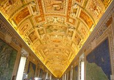 Gilded dome of a corridor in the Vatican Museums Royalty Free Stock Photos
