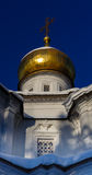 Gilded dome and cross Royalty Free Stock Photo