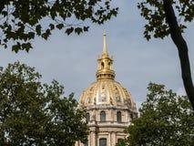 Gilded dome of les Invalides, Paris Stock Photo