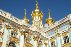 Gilded domes with crosses Stock Images