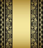 Gilded floral elements and patterns. In retro style Royalty Free Stock Photography