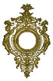 Gilded frame. With ornaments on the white background Stock Image