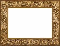Gilded Frame. Gilded baroque decorative frame isolated on white background Stock Image