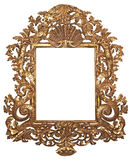 Gilded frame. Old gilded wooden frame for mirrors Royalty Free Stock Photography