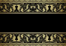 Gilded frame with decorative elements. In retro style for design Royalty Free Stock Photos