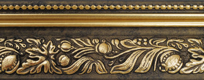 Gilded frame. Royalty Free Stock Image