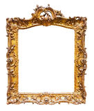 Gilded  frame. Isolated over white Stock Photo