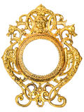 Gilded frame for a mirror Stock Image