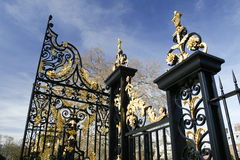 Gilded gate Stock Image