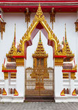 Gilded gates of an Buddhist temple Stock Image