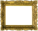 Gilded Golden Frame Cut Out Royalty Free Stock Photo