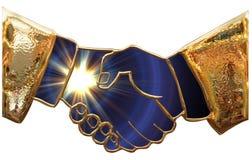 gilded hand Royaltyfri Fotografi